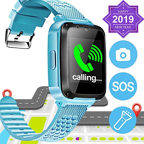 SIXONE Kid Smart Watch Phone SOS Tracker for Boy Girl Game Sport Watch with Anti-Lost Camera Electronic Learning Toy Wrist Watch Bracelet for Birthday Holiday Valentine's Day Toy Gifts