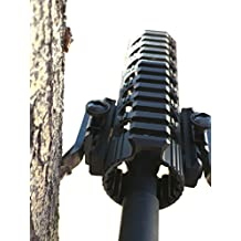AR 15 Quad Rail Spike Shooting Rest for Imbedding and Holding the Muzzle End of a Rifle Into a Tree of Any Diameter or a Soft Object, to Improve Aim and Provide Cover