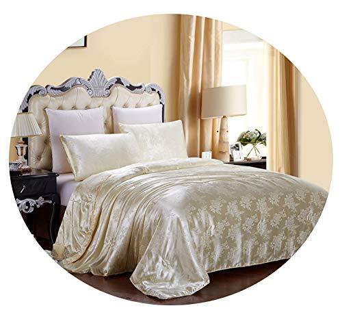 Bedspread Mulberry Silk Comforter King Queen Twin Size & Winter Duvet/Blanket/Quilt edredom Filler Bedspread Bedding,Queen Size Winter,Beige