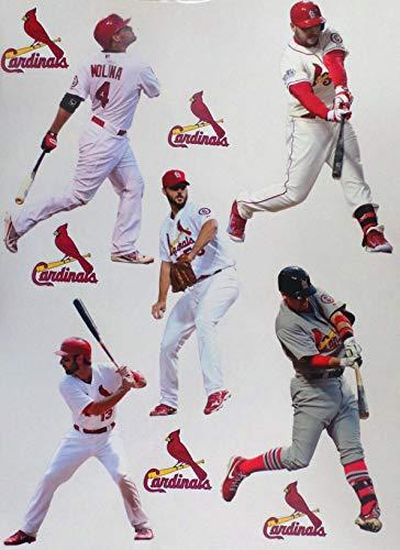 FATHEAD St. Louis Cardinals Mini Team Set of 5 Players + 5 Cardinals Logo Official MLB Vinyl Wall Graphics - Each Player 7