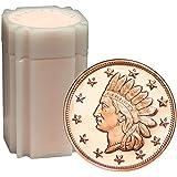 20 Rounds- Indian Head Cent 1 oz .999 Copper Bullion Rounds