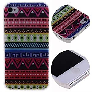 LIMME- Cartoon Bohemia Style Pattern Hard Case for iPhone 4/4S