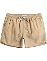 75ab35acf4 Mens Short Swim Trunks with Mesh Lining Quick Dry Boy Mens Board Shorts Swim  Suit