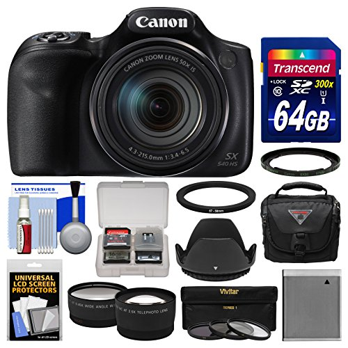 Canon PowerShot SX540 HS Wi-Fi Digital Camera with 64GB Card