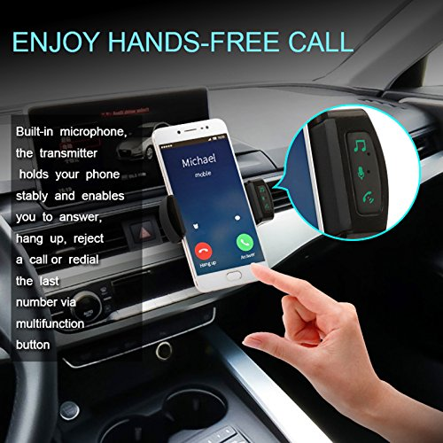 Bluetooth FM Transmitter HIFI Bluetooth Radio Transmitter Car Radio Adapter Car Bluetooth Kit with Car Mount USB Car Charger Handsfree Calls ANLUDD 4330380289