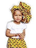 Girl's African Skirt | Traditional Kente Attire for Kwanzaa Weddings Special Occasions Black History Month