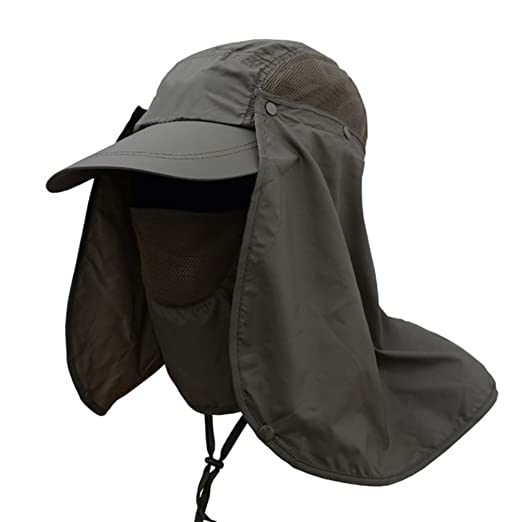 083bae06326e7 ink2055 Hiking Fishing Hats Hat Outdoors Sports Sun Resistant Neck Face  Wide Brim Flap Cap -