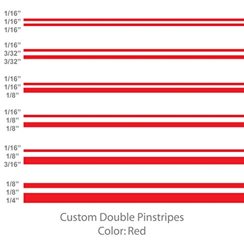 Double Pinstripe - 1060 Graphics Double Pinstripes (Red) 1/8