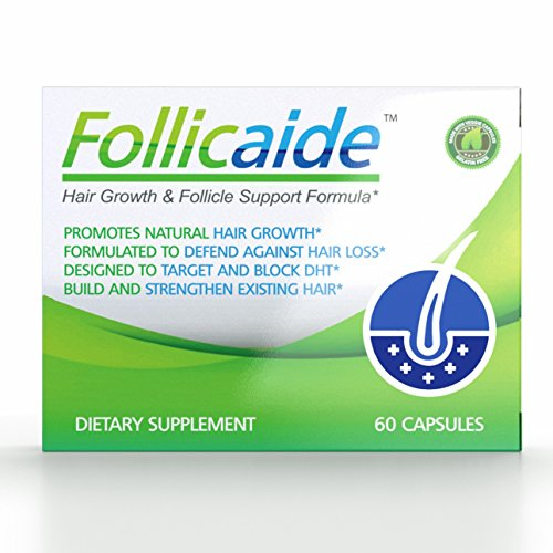 Vitamins Hair Follicles - Follicaide - Hair Growth Follicle Support & Thinning Resistence - 60 Count - 1 Month Supply - DHT Blocker Hair Vitamin Supplement Fight Hair Loss - Regrow Hair