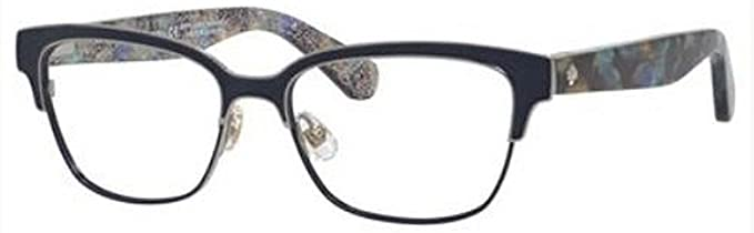 818d76367025 Image Unavailable. Image not available for. Color  Eyeglasses Kate Spade  Ladonna 0S61 Blue Havana Glitter