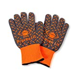 Proven Lit Heat Resistant Gloves (PAIR) | BBQ gloves with Extra Grip and Extended Wrist Protection Grill Gloves | Use for Grilling, BBQ, Fire Pit, Cooking or pot holder | American Branded Oven Gloves