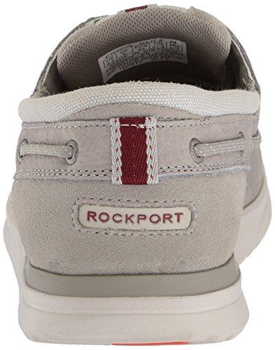 Rockport Mænds Langdon 3 Øje Okse Sneaker Cement Nubuck TcCbOhM