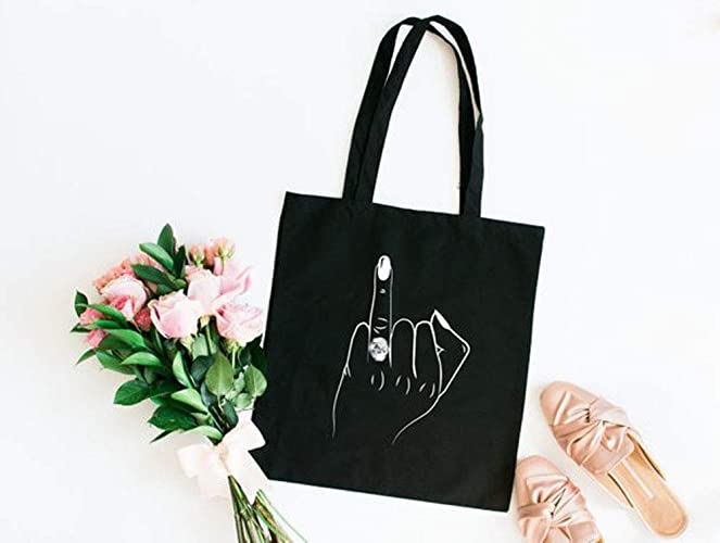 Amazon Com Best Quality Bride Ring Finger Canvas Tote Bag Wedding