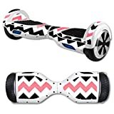 MightySkins Protective Vinyl Skin Decal for Hover Board Self Balancing Scooter mini 2 wheel x1 razor wrap cover sticker Black Pink Chvrn