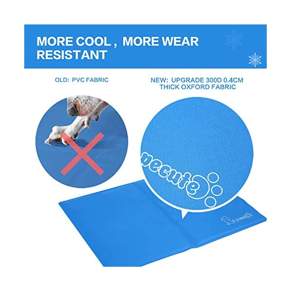 Pecute Dog Cooling Mat Medium 65x50cm, Durable Pet Cool Mat Non-Toxic Gel Self Cooling Pad, Great for Dogs Cats in Hot Summer 3