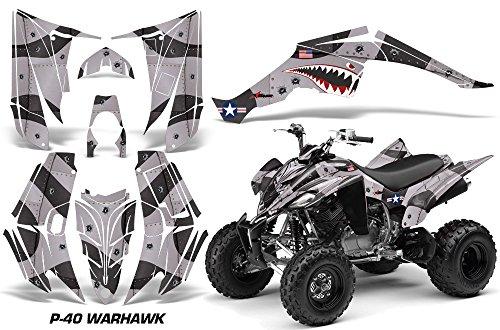 Yamaha Raptor 350 2004-2014 ATV All Terrain Vehicle AMR Racing Graphic Kit Decal P40 WARHAWK BLACK