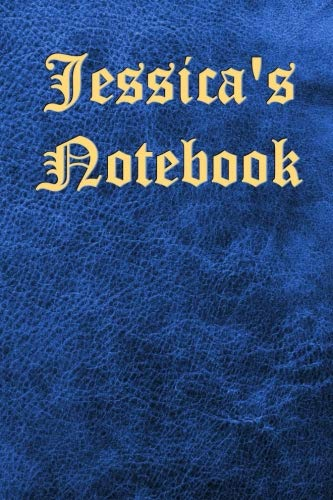 Jessica's Notebook: Leather-look, blue - Bespoke, personalised books. Contact us if you would like your own image or text on a book (Platforms Leather Jessica)