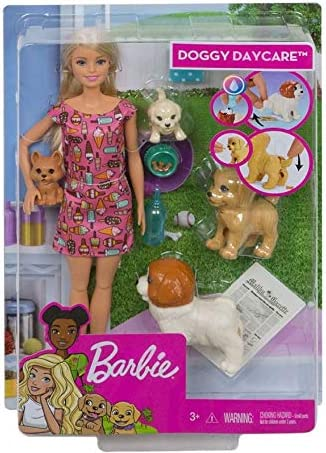 Amazon.es: Mattel España, S.A. Muñeca Barbie y Su Guardería de Perritos: Juguetes y juegos
