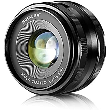 Neewer 35mm F/1.7 Large Aperture Manual Prime Fixed Lens APS-C for Sony E-Mount Digital Mirrorless Cameras NEX 3 NEX 3N NEX 5 NEX 5T NEX 5R NEX 6 7 A5000, A5100, A6000, A6100,A6300 A6500 A9