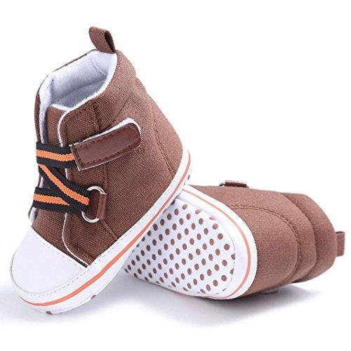 kingko® Ein Paar schöne Kunst Baby Schuhe Boy Girl Neugeborenen Crib Soft Sole Schuh Sneakers Braun