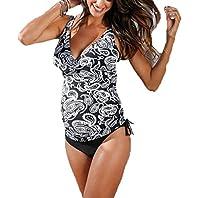 Summer Mae Women¡äs Maternity Pregnancy V-neck Paisley Tankini Swimsuit