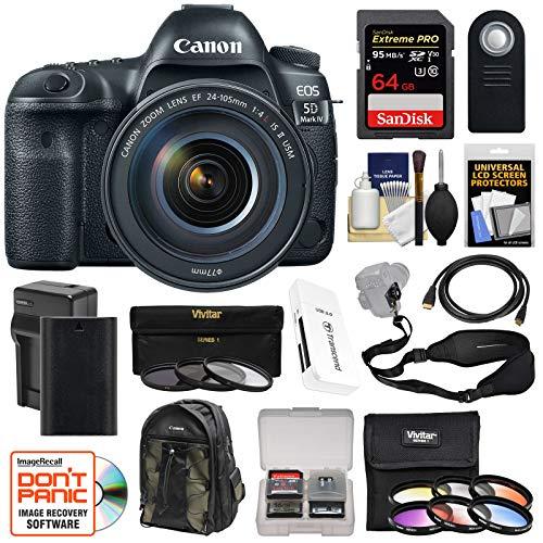 Canon EOS 5D Mark IV 4K Wi-Fi Digital SLR Camera & EF 24-105