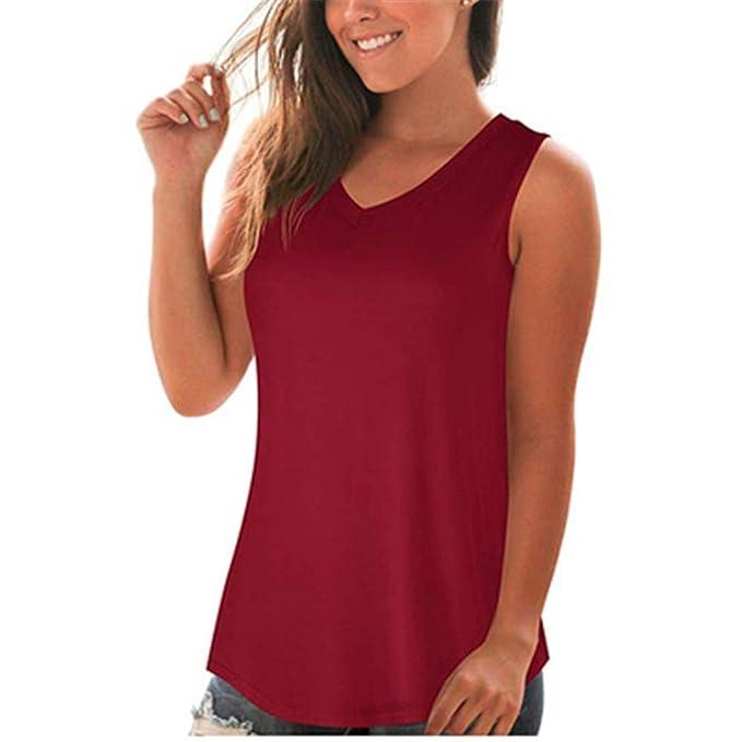 Boutique sale Tops De Gasa Con Cuello En V Para Mujer Camisas De ...