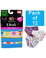Fruit of the Loom Big Girls'    Label Free Brief , Colors may vary(Pack of 12)