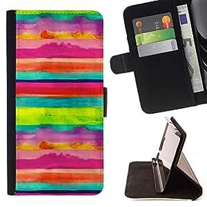 Momo Phone Case / Flip Funda de Cuero Case Cover - Arte Rayas Niños alegre feliz - LG G4 Stylus H540