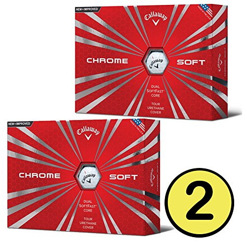 Callaway 2016 Chrome Soft Golf Balls 2 or 3 or 6 Dozen , White or Yellow or Truvis Pattern