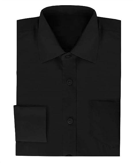 Ozmoint - Camisa - Manga Larga - para niño Negro Negro