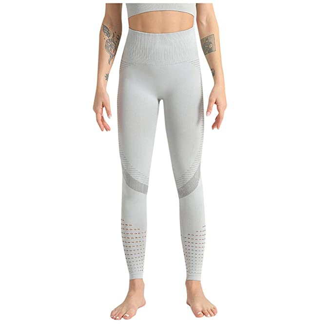 LANSKIRT_Pantalones Yoga Mujeres Cintura Alta Pantalon Moda Sin ...