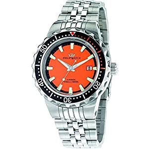 Amazon.com: Philip Watch Mens Watch Caribe 1000M Automatic R8223597001