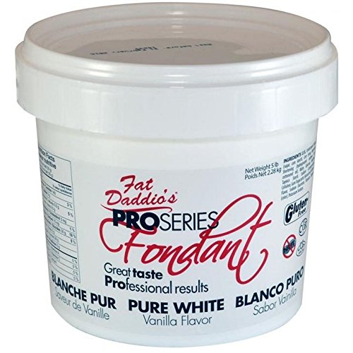 Fat Daddio's Rolled Fondant Icing Bright White 5 Pounds