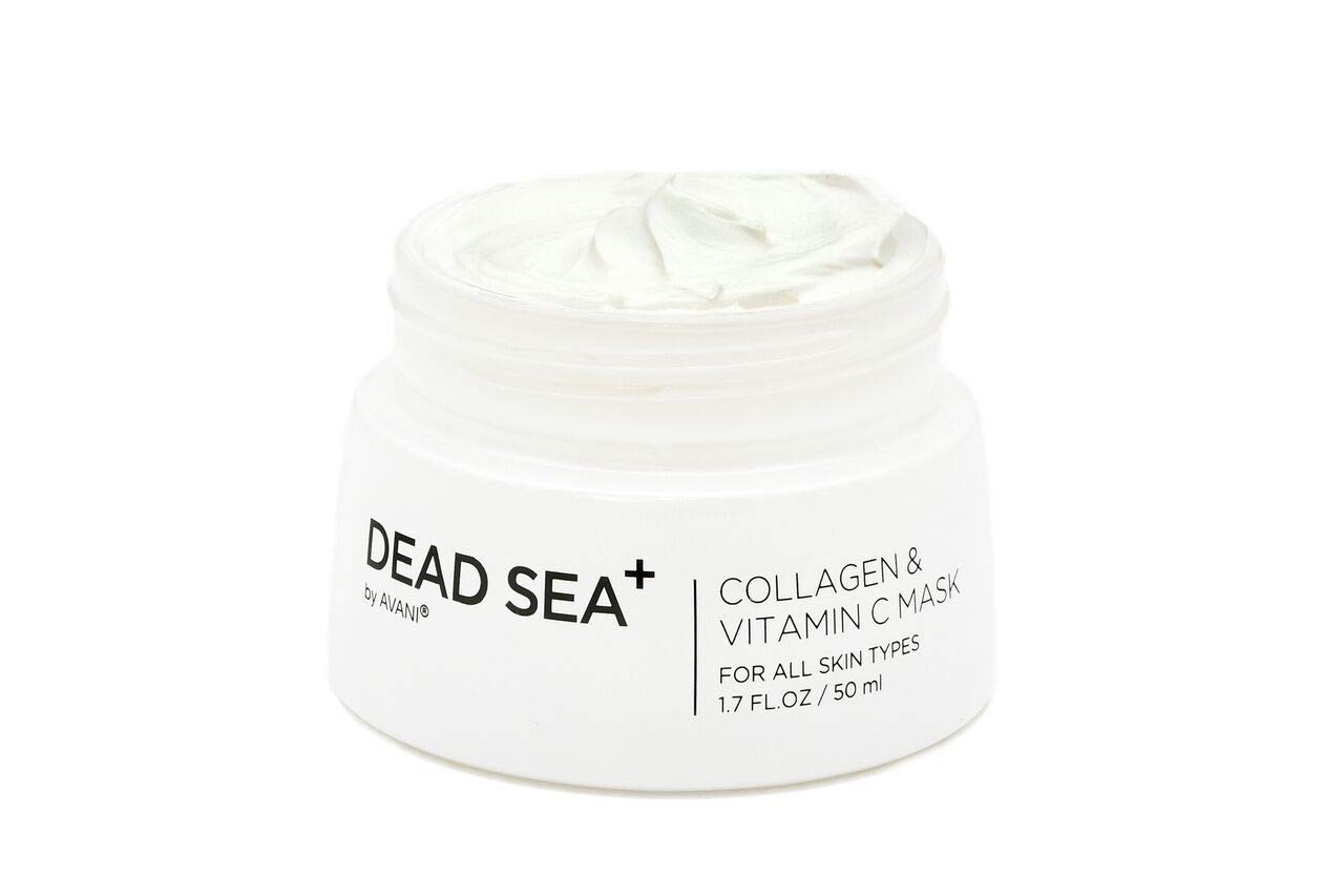 Dead Sea collagen mask face. Reduces wrinkles and fine lines. Smoother, refreshed skin. Anti-aging. Antioxidant. 100% natural. No nasty additives.