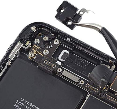 MMOBIEL Soporte para Antena WiFi Repuesto Compatible con iPhone 7 con Cubierta de retención WiFi WLAN Incl. 2 x Destornilladores