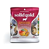 Solid Gold Grain Free Beef, Mango & Turmeric Natural Chewy Dog Treats, 2 oz.