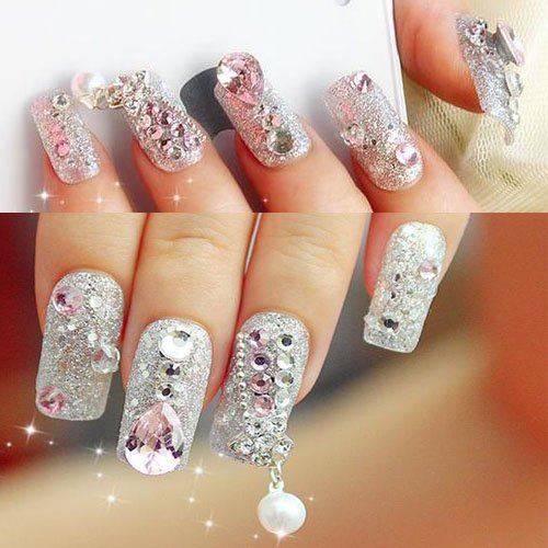 Amazon 12 Different Size Nail Art Nailart Round Glitter