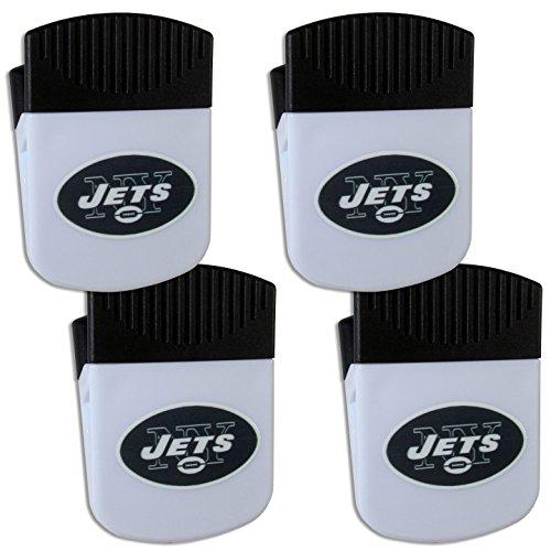 Siskiyou NFL New York Jets Chip Clip Magnet with Bottle Opener, 4 Pack