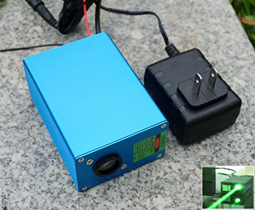 220V DPSS Fat Beam Green Diode Laser Dot Module 532nm 200mw / TTL10-20K Hz / Long Time ()