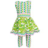 AnnLoren Toddler Girls sz 4/5T Summer Mermaids Dress and Capri Clothing Outfit