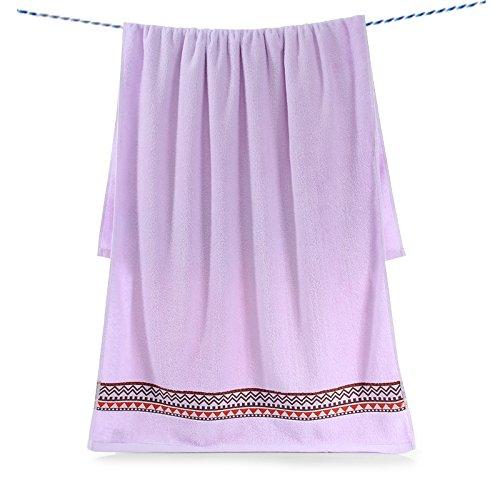Reine Baumwolle Waffel Bademäntel Soft intensivieren Wasseraufnahme Home Paare Unisex Handtücher 70 * 140 cm, lila