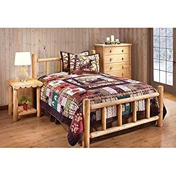 Amazon.com: CASTLECREEK Cedar Log Bed, Twin: Kitchen & Dining