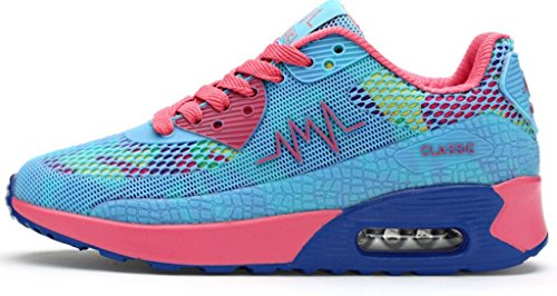 Femme Filles Chaussures Ladies Sneaker Padgene Trainers Jogging De Baskets Bleu Sport Pour Running Course Max Air wUB046q