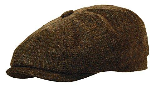 ewsboy Gatsby Cap Ivy Golf Hat Driving Cabbie (Large, Dark Brown) ()