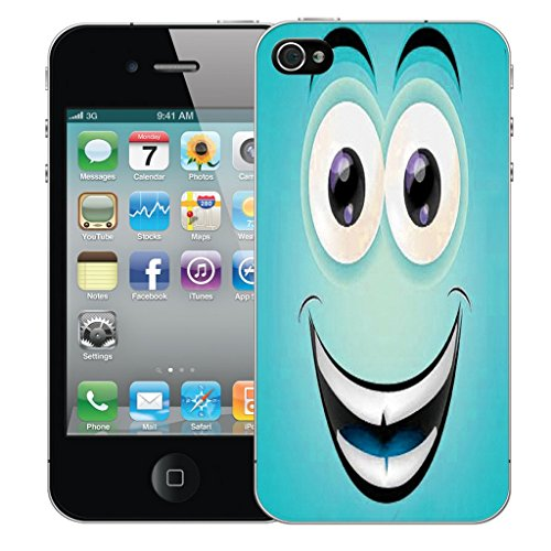 Mobile Case Mate iPhone 5 Silicone Coque couverture case cover Pare-chocs + STYLET - Smiley Caricature pattern (SILICON)