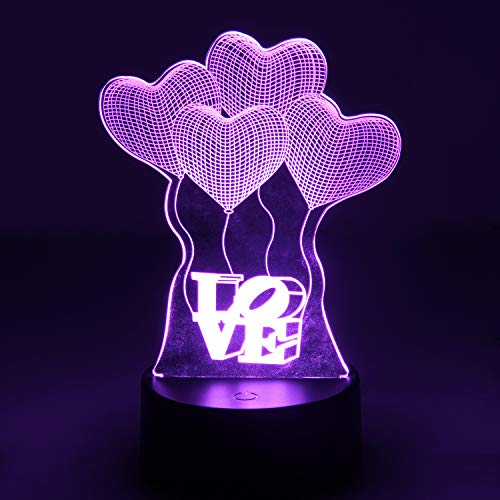 Price comparison product image OYE HOYE Night Light Home Decor 3D LED Lamp with Remote Controller,  USB & Battery Powered,  Touch Sensor Base,  3D Visualization 16+ Color Table Light for Home Decor,  Color Changing Desk Light