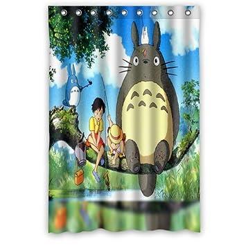 Scottshop Custom My Neighbor Totoro Shower Curtain High Quality Waterproof Polyester Fabric Bathroom Curtains 48quot