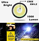 1000-Lumen-Bike-Light-USB-Rechargeable-Stepless-dimming-FREE-Taillight-INCLUDED-360-Degree-Rotation-Mount-Cycle-Torch-Easy-Install-Quick-Release-Fits-ALL-Bikes-Mountain-Hybrid-Road-MTB