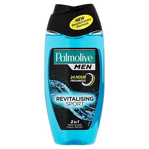 Palmolive for Men 2in1 Body & Hair Shower Shampoo - Sport (250ml) - Pack of 2 (Sensation Shampoo Citrus)